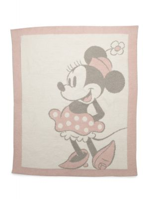 Barefoot Dreams CozyChic Vintage Minnie Mouse Baby Blanket, Size 32