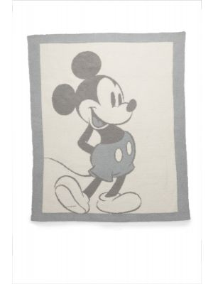 Barefoot Dreams CozyChic Vintage Disney Mickey Mouse Baby Blanket, Size 32