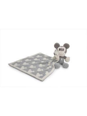Barefoot Dreams CozyChic Vintage Mickey Mouse Blanket Buddie, Ocean