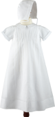 Feltman Brothers Baby Boy Christening Baptism Gown with Pintucks and Embroidery